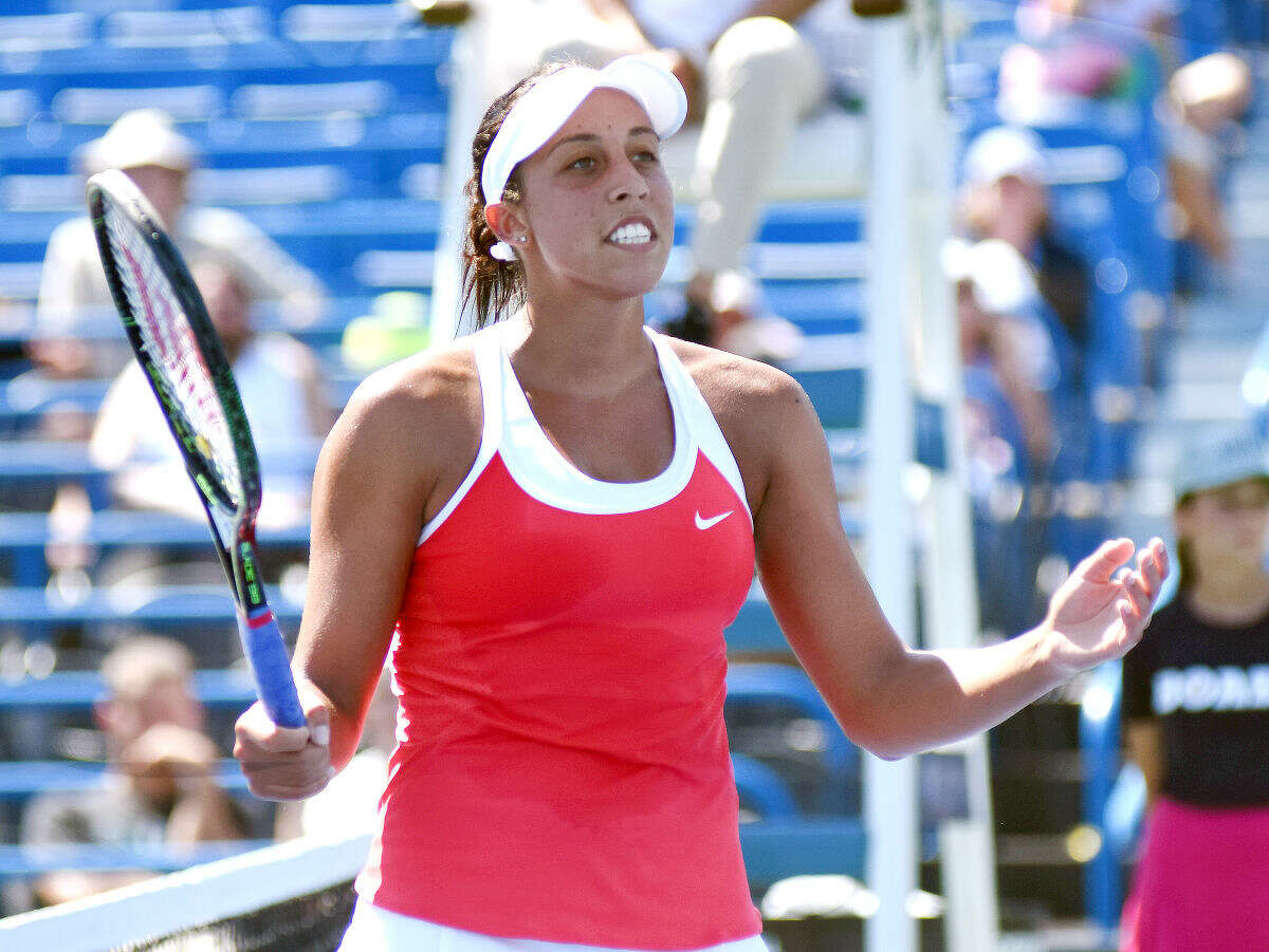 Madison Keys at the Connecticut Open in New Haven.