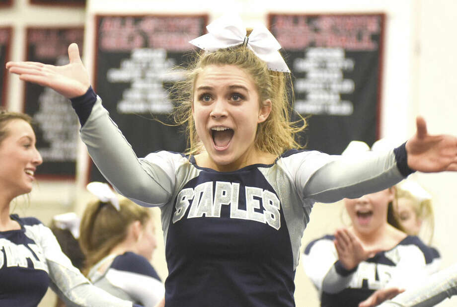 Hour photo/John Nash - The FCIAC Cheerleading championship was held Saturday at Fairfield Warde High School.
