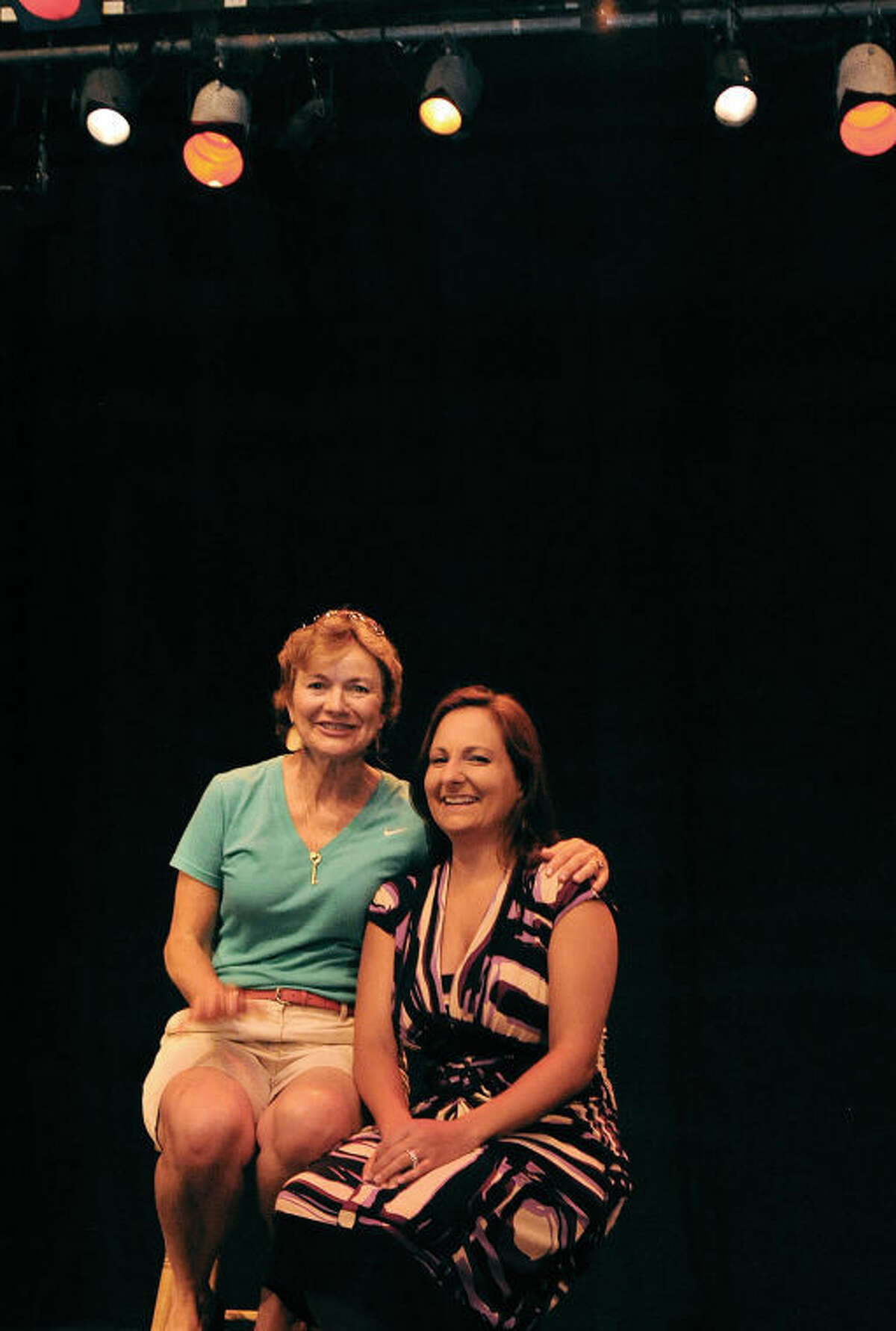 Zelie Pforzheimer, president of the Wilton Playshop, and the new incoming director Lauren Sherwood.