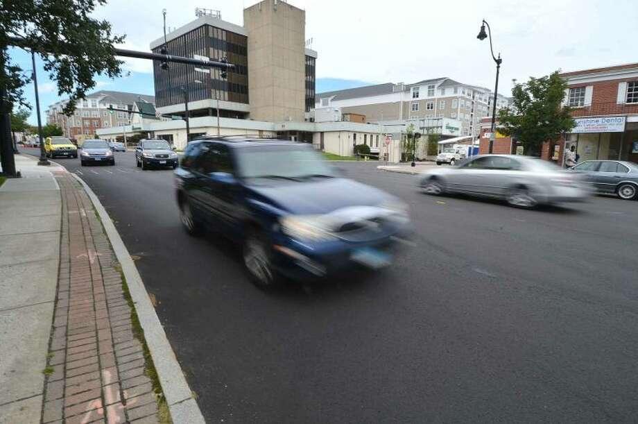 Hour Photo/Alex von Kleydorff Traffic along Belden Ave. at Burnell Blvd on Thursday.