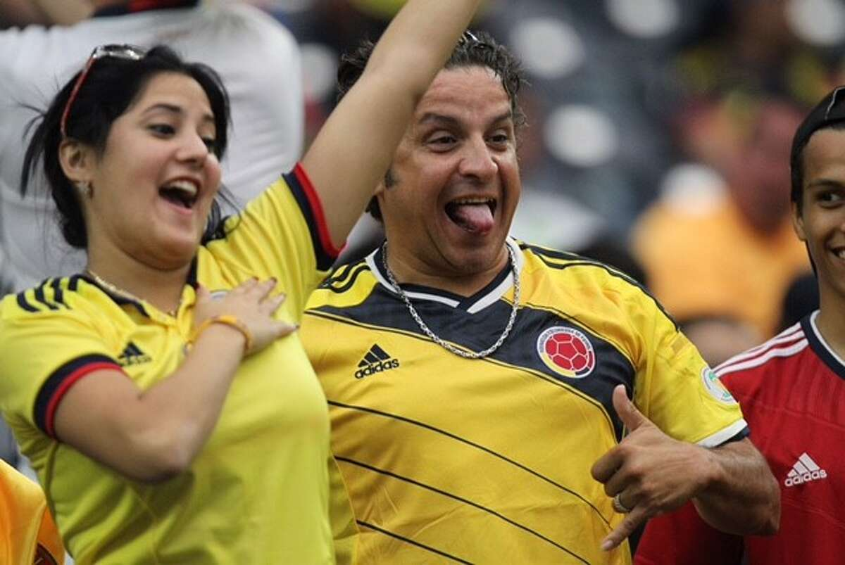Fans at NRG for Copa America match: Costa Rica vs. Colombia