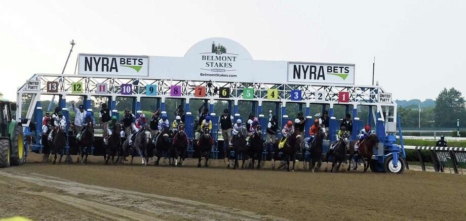 The field breaks the gate in the 148th running of The Belmont Stakes on Creator Saturday June 11, 2016 in Elmont, N.Y.   (Skip Dickstein/Times Union) Photo: SKIP DICKSTEIN