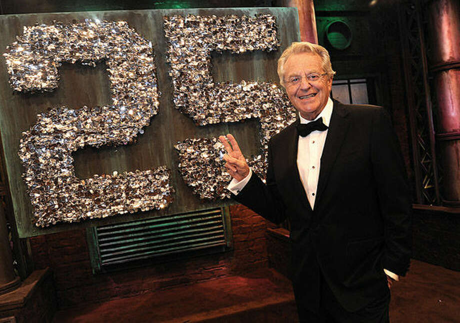 Talk show host Jerry Springer celebrated his program's 25th anniversary on Monday at the Stamford Media Center.