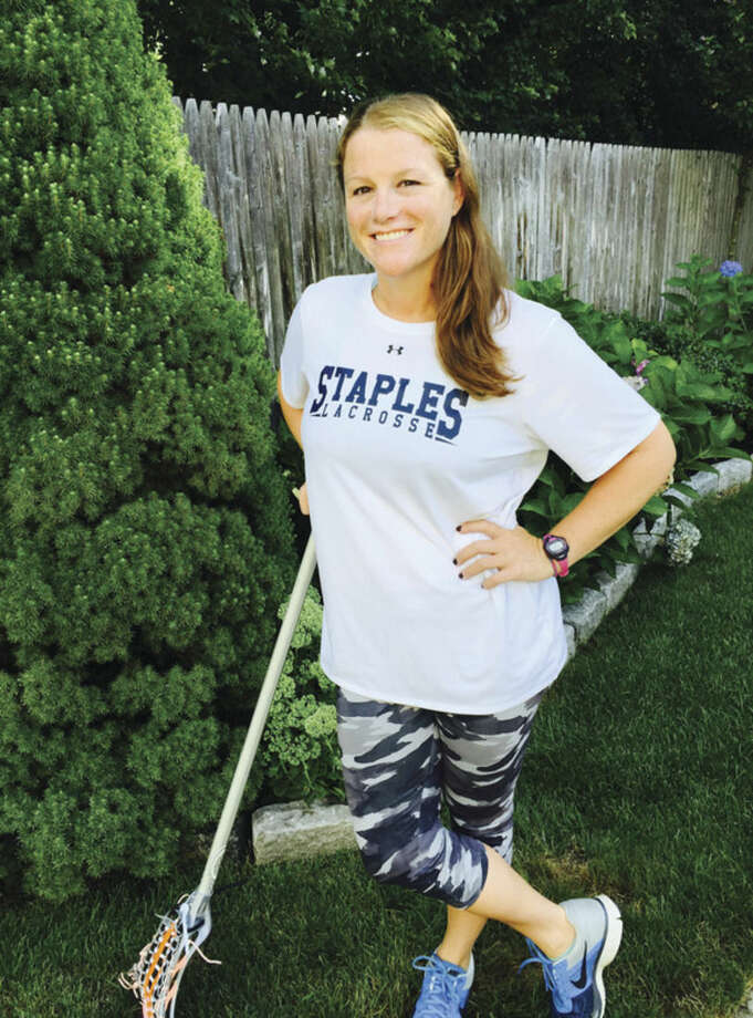 Staples girls lacrosse coach Steph Calabrese.