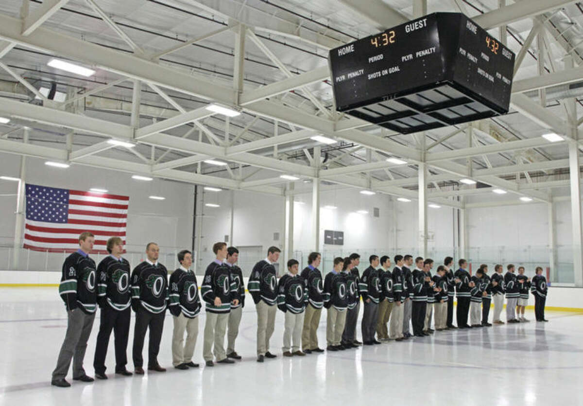 Hour file photo/Danielle Calloway The SoNo Ice House, located at 300 Wilson Ave., in Norwalk, seen here during the official opening ceremonies in 2012, will be the site of a 24-hour hockey game on Saturday.