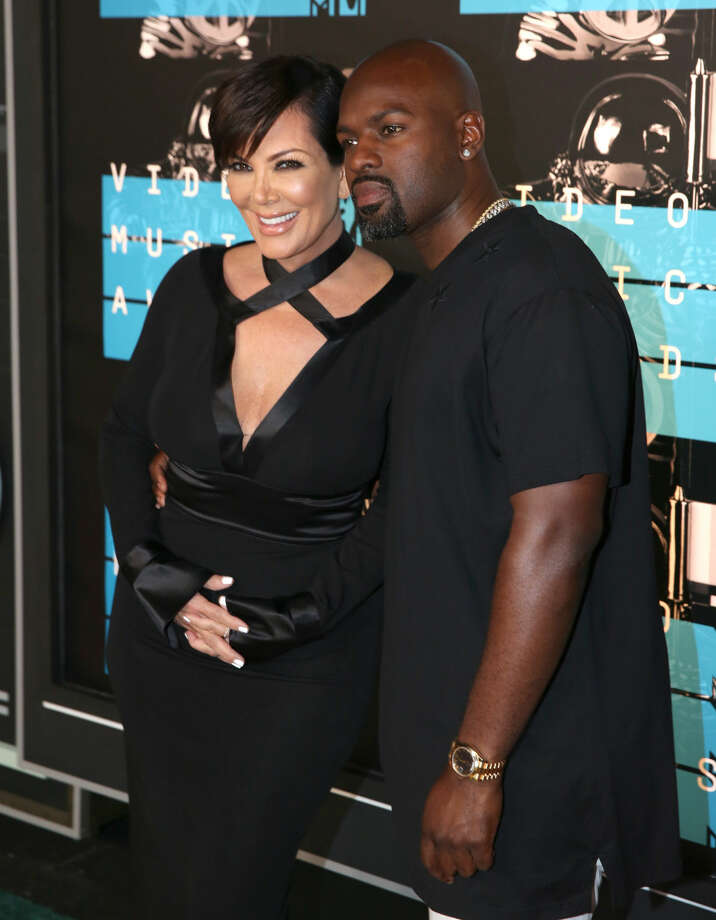 Kris Jenner, left, and Corey Gamble arrive at the MTV Video Music Awards at the Microsoft Theater on Sunday, Aug. 30, 2015, in Los Angeles. (Photo by Matt Sayles/Invision/AP)