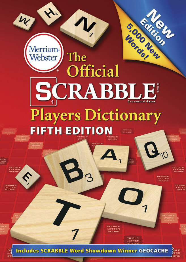 """This book cover image released by Merriam-Webster Inc. shows """"The Official Scrabble Players Dictionary: Fifth Edition."""" The Official Scrabble Players Dictionary, out Aug. 11 from Merriam-Webster, has 5,000 new words. (AP Photo/Merriam-Webster)"""