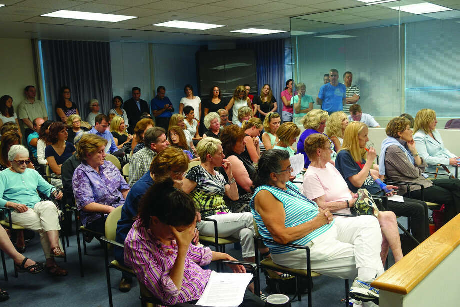 Over 80 people attended a forum with the Stamford Animal Control Center Task Force at Stamford Government Center Tuesday night.