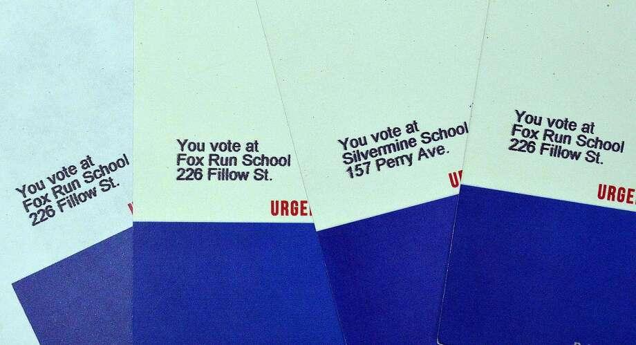 Hour Photo/Alex von Kleydorff Campaign voting cards from john Federici