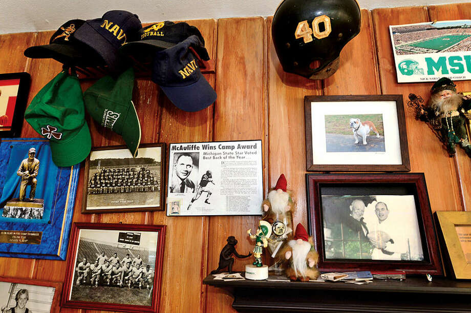 Hour photo / Erik Trautmann Norwalk resident Don McAullife is a former college football player from Michigan State who was a finalist for the Heisman