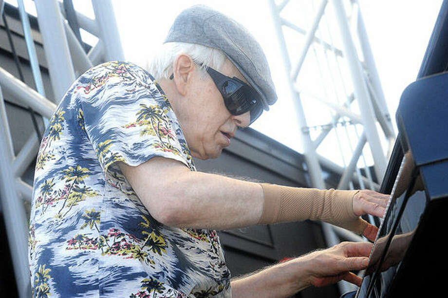 Musician Mark Naftalin Sunday at the Blues, Views & BBG festval in Westport. Hour photo/Matthew Vinci