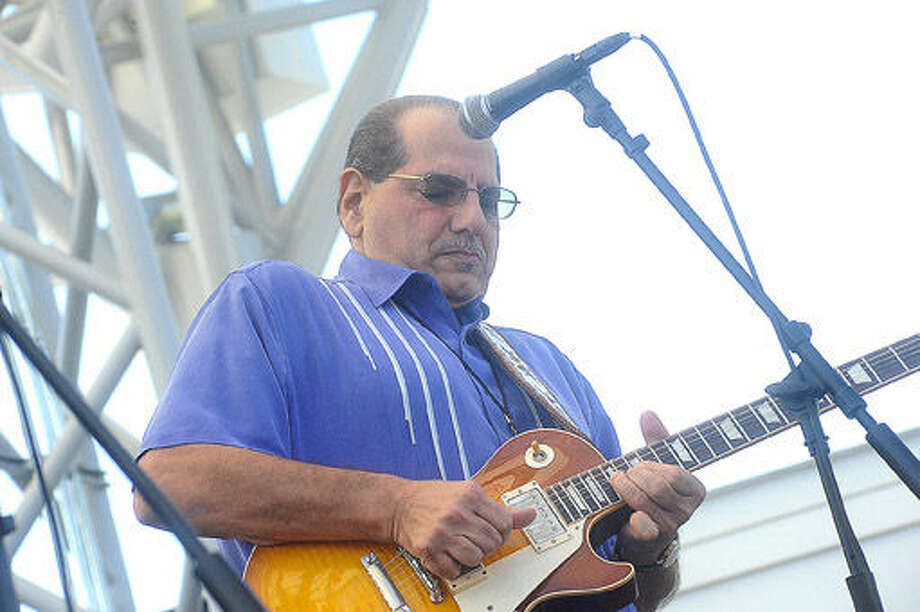 Guitarist Paul Gabriel Sunday at the Blues, Views and BBQ Festival in Westport. Hour photo/Matthew Vinci