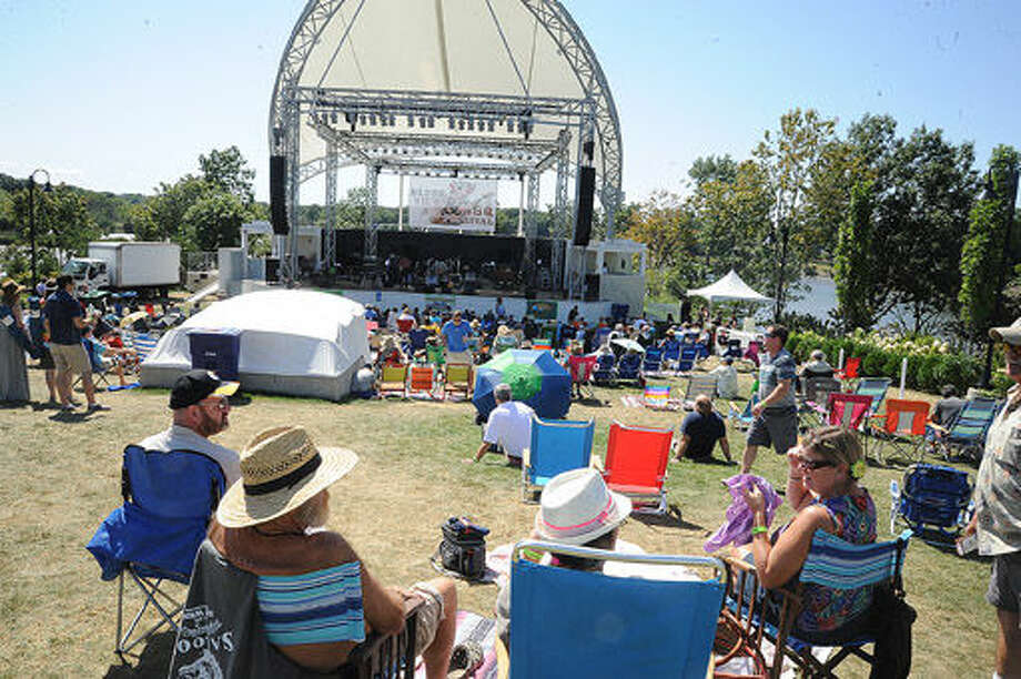 Crowds enjoy the music Sunday at the Blues, Views and BBQ Festival in Westport. Hour photo/Matthew Vinci