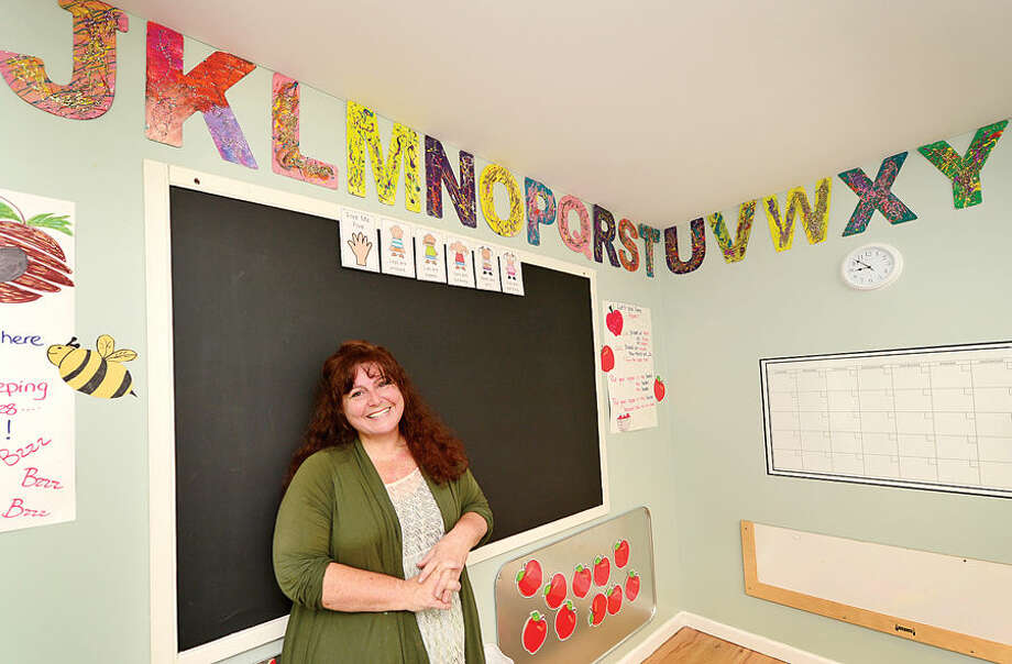Hour photo / Erik Trautmann Sharon Cowley will open the Create Learning Center on Danbury Rd in Wilton on Sept. 2. It will be an early childhood education center for children ages 19 months to 5 years old. Cowley previously ran a daycare at Comstock Community Center for The Wilton Parks and Receation Department.