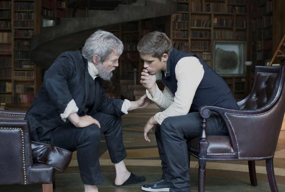 """AP Photo/ The Weinstein CompanyThis image released by The Weinstein Company shows Jeff Bridges, left, and Brenton Thwaites in a scene from """"The Giver."""""""