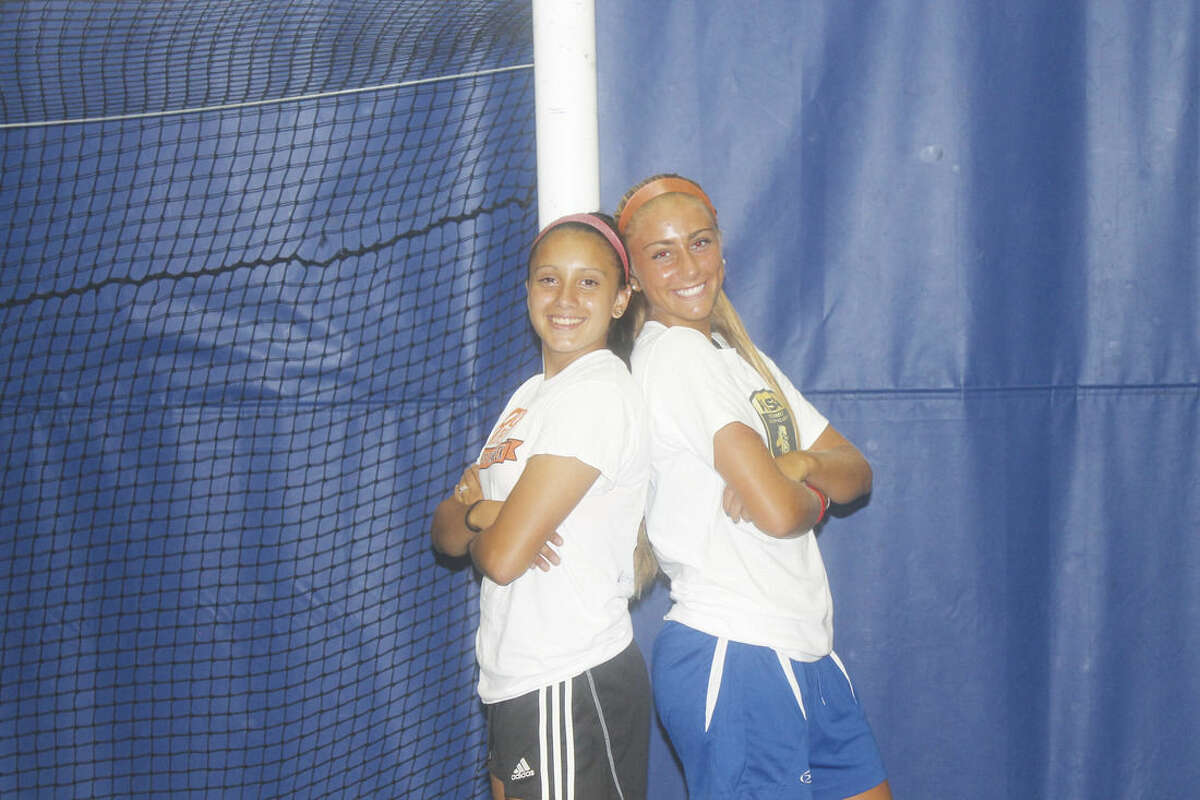 Photo by Joe Ryan Westhill girls soccer captains for this fall are, from left, Cassie Herrera and Natalie Druehl.