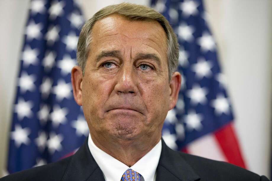 "In this Sept. 9, 2015, photo, Speaker of the House John Boehner of Ohio, pauses while speaking about his opposition to the Iran deal during a news conference with members of the House Republican leadership on Capitol Hill in Washington. Even though opponents of the Iran nuclear deal can't win in Congress, they aren't going to go quietly. ""This debate is far from over, and frankly, it's just beginning,"" Boehner said on Sept. 10. (AP Photo/Jacquelyn Martin)"