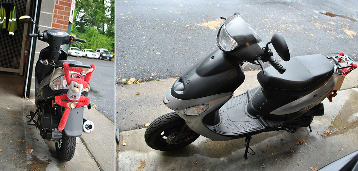 Contributed photos The scooter that was allegedly used in a shooting Tuesday night in which a Norwalk rapper Joe Grit$ was injured.