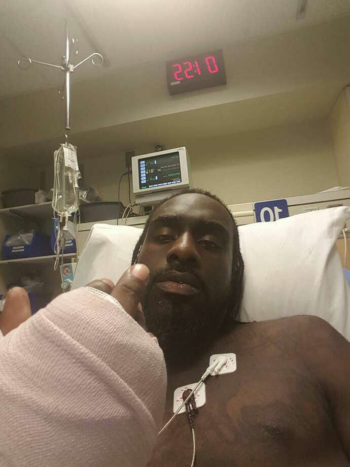 Joe Grit$ in the hospital after being shot Wednesday.