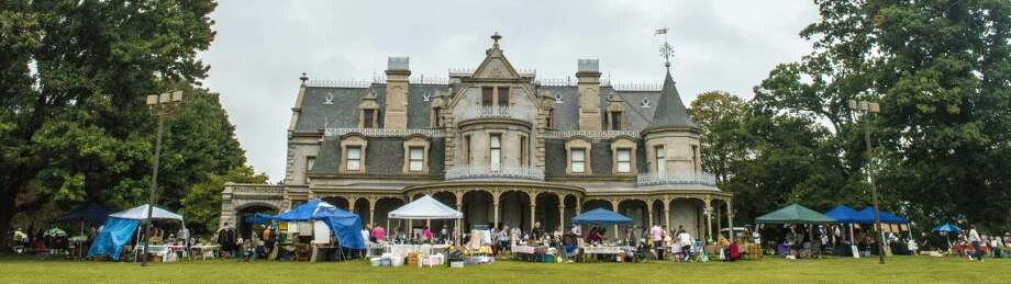 Contributed photoOld-fashioned flea market at Lockwood Mathews Mansion.