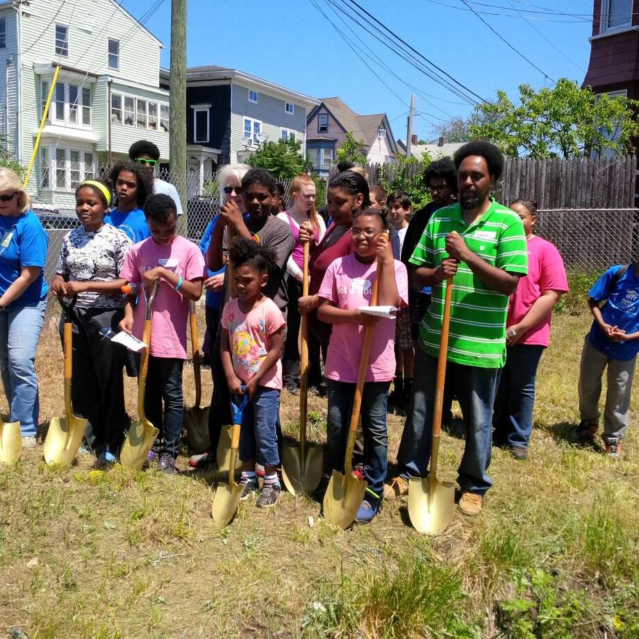 The Pamphile family takes part in this year's groundbreaking of the next Youth United home on 84 Maple Street in Bridgeport, CT. Wilton youth will meet on September 12th to kick off this year's membership for Youth United, a part of the Habitat for Humanity of Fairfield County.