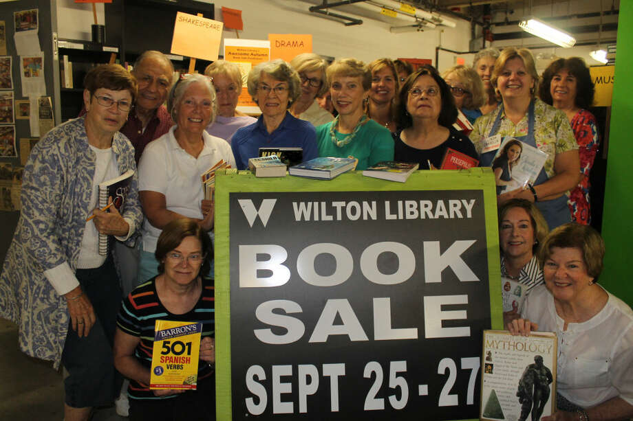 Wilton Library's Awesome Autumn Book Sale volunteers prepare for the fall fundraiser being held on Friday, Sept. 25, noon to 6 p.m.; Saturday, Sept. 26, 10 a.m. to 5 p.m.; and Sunday, Sept. 27, 1 to 5 p.m. For information and directions, visit wiltonlibrary.org or call (203) 762-3950, ext. 213.