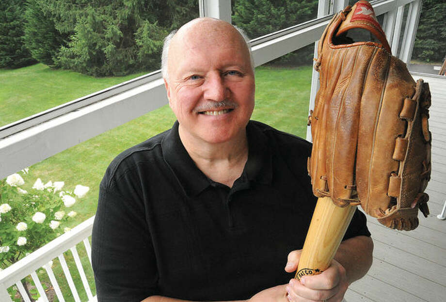 Jack Bedosky at his home in Stamford. He is going to be inducted into the CTASA SoftballHall of Fame. Photo/Matthew Vinci
