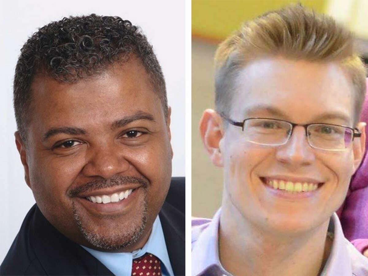 Erik Anderson and Yvel Crevecoeur, BOE candidates.