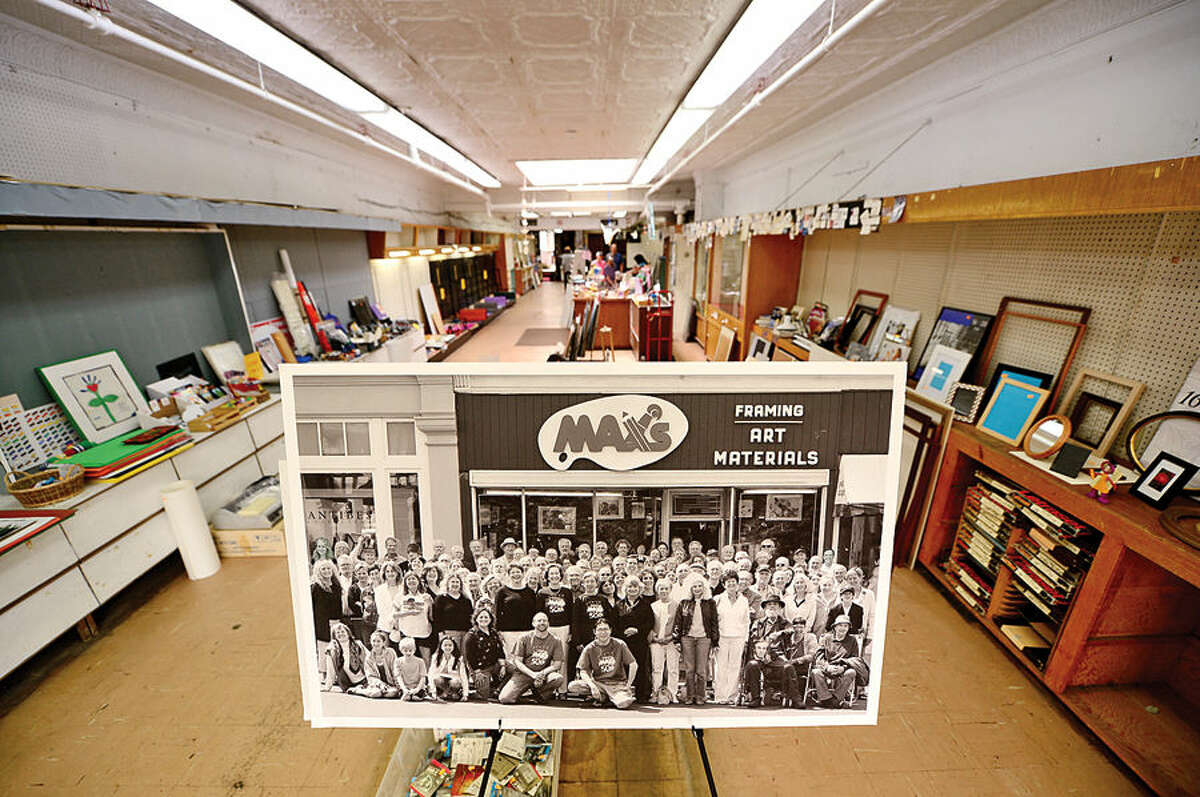 Hour photo / Erik Trautmann Max's art supply is going out of business after 58 years at their location at 68 Post Rd East in downtown Westport.