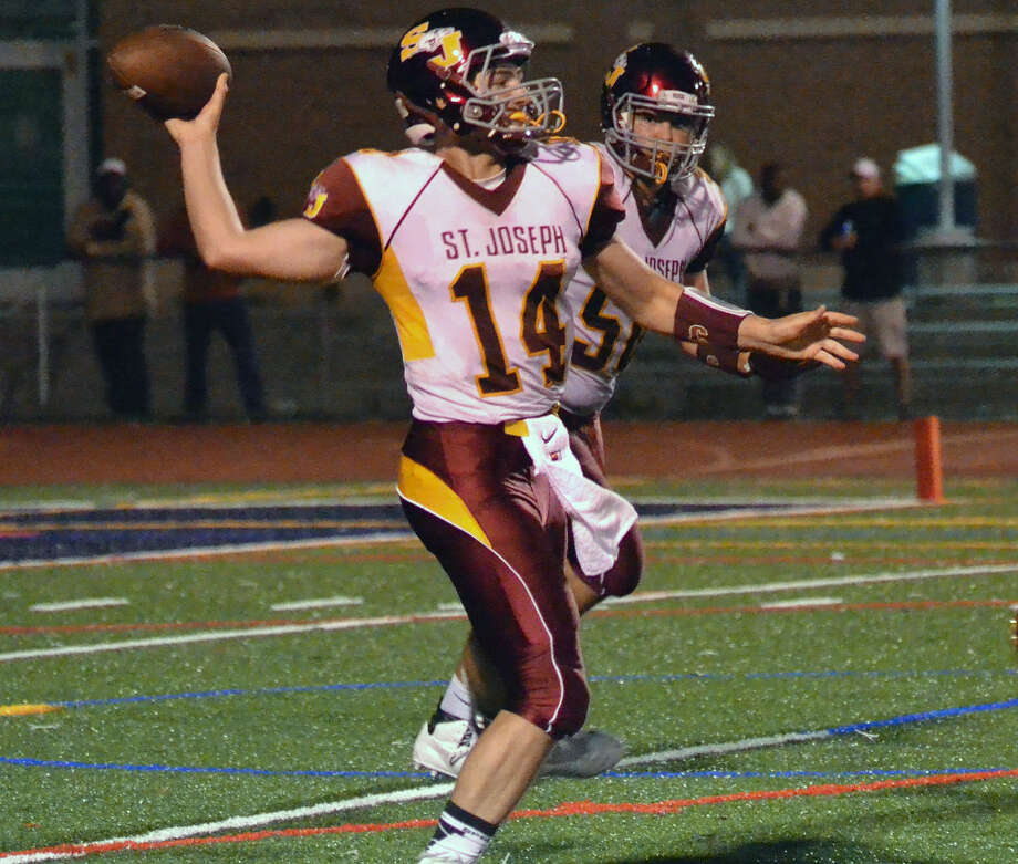 Action from the Brien McMahon vs. St. Joseph on September 25, 2015. (Pete Paguaga/Hour photo)