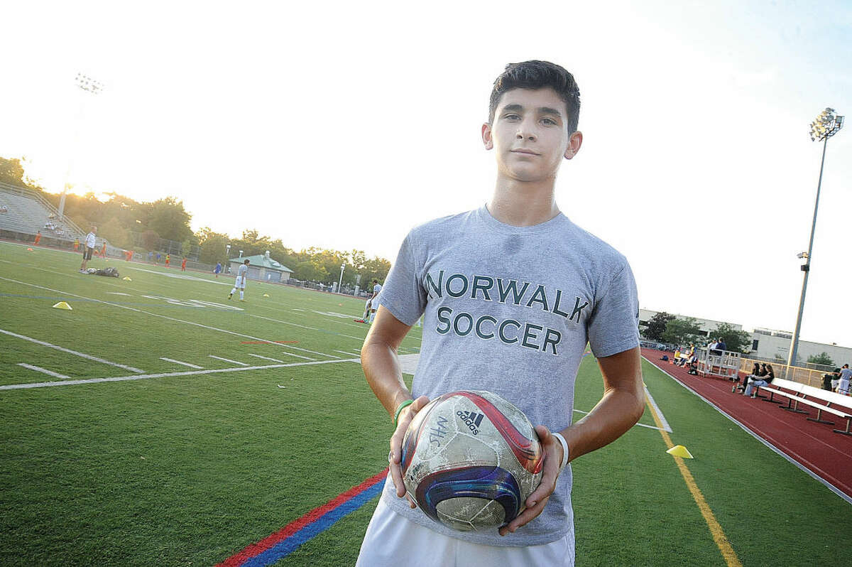 Norwalk's George Kutrubis has verbally committed to play soccer at UConn. (Hour photo/Matthew Vinci)