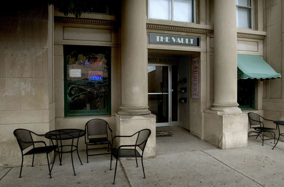 'The Vault', seen in an Aug. 22, 20`14 photo, is a self-serve coffee shop in downtown Valley City, North Dakota. According to owner David Brekke, small-town living is what allows the North Dakota coffee shop to operate on the honor system. (AP Photo/Bruce Crummy)