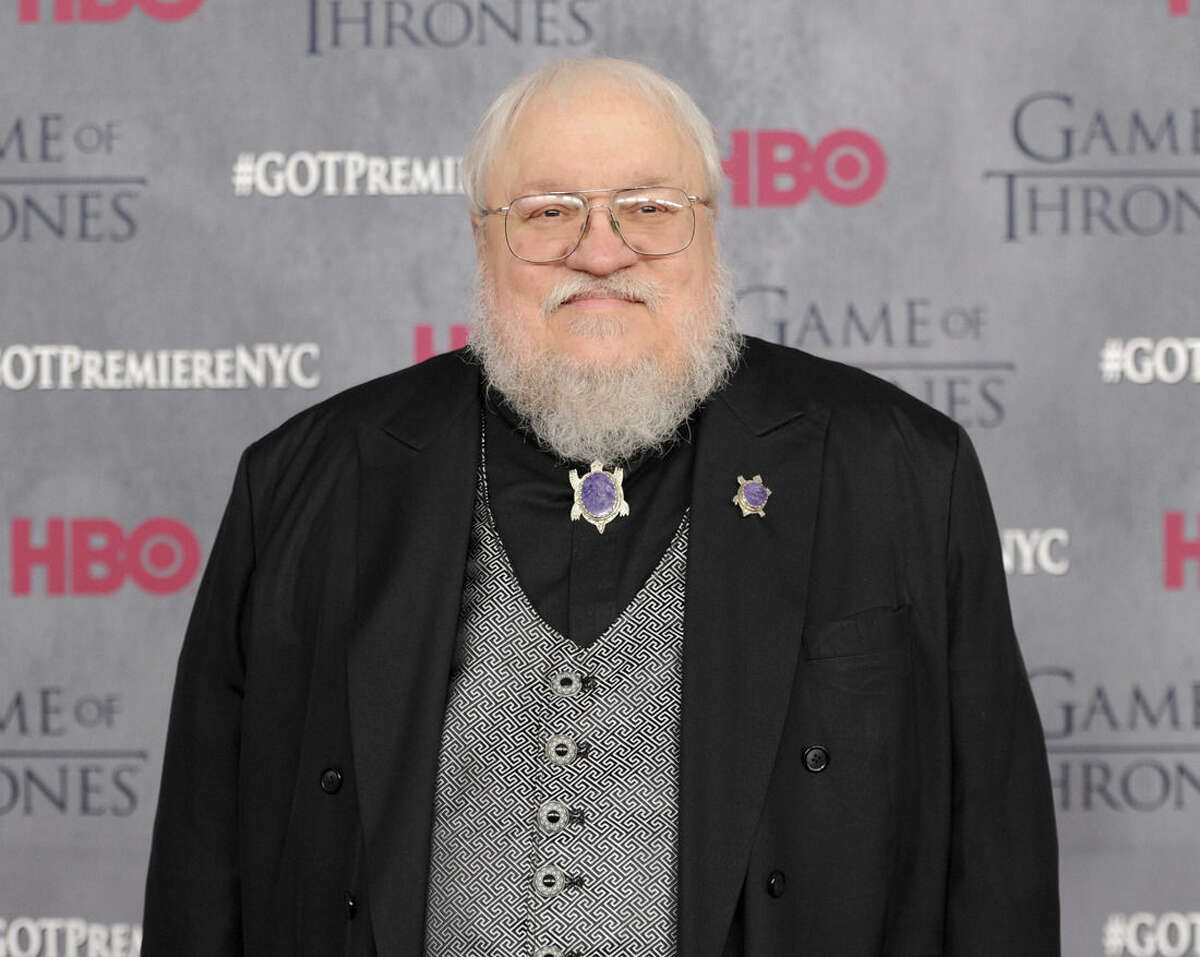 FILE - In this March 18, 2014 file photo, author and co-executive producer George R. R. Martin attends the
