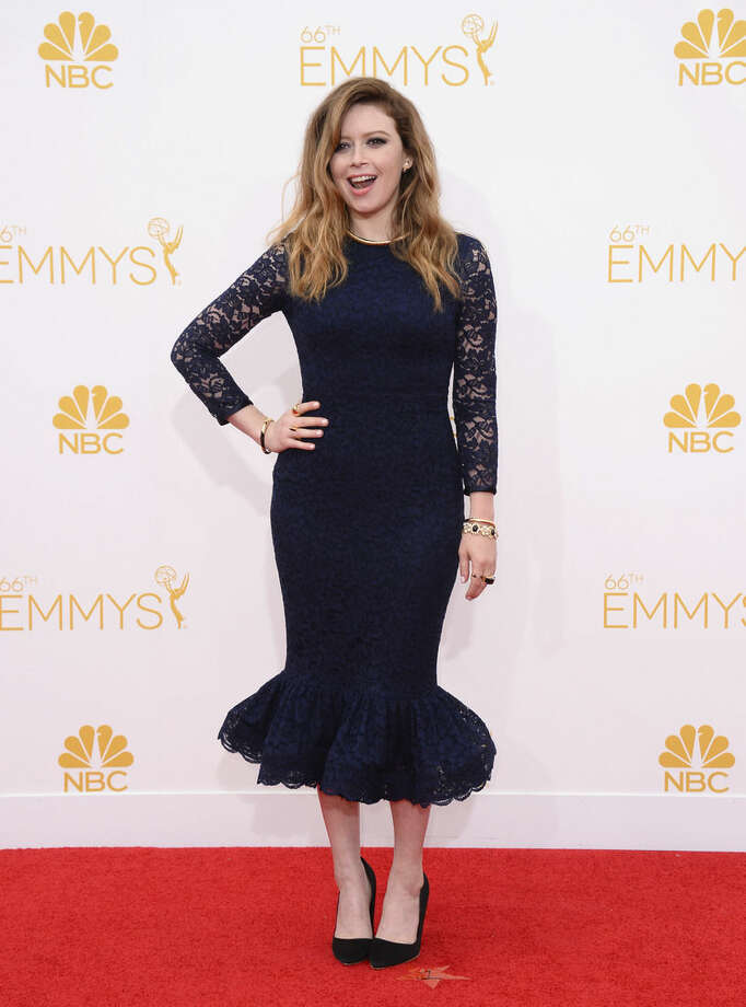 Natasha Lyonne arrives at the 66th Annual Primetime Emmy Awards at the Nokia Theatre L.A. Live on Monday, Aug. 25, 2014, in Los Angeles. (Photo by Jordan Strauss/Invision/AP)