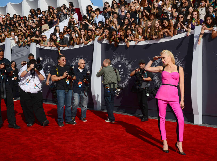 Gwen Stefani arrives at the MTV Video Music Awards at The Forum on Sunday, Aug. 24, 2014, in Inglewood, Calif. (Photo by Jordan Strauss/Invision/AP)