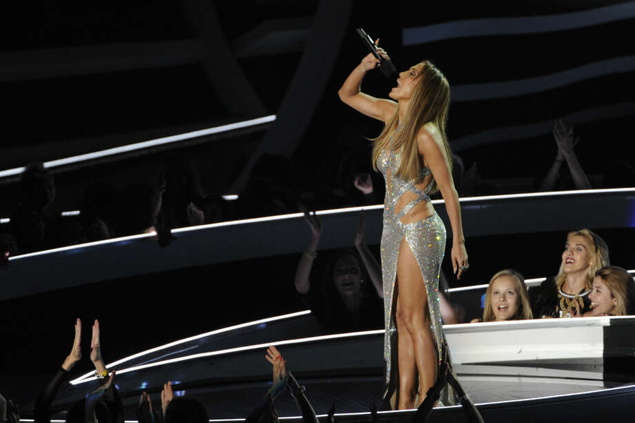 Jennifer Lopez performs at the MTV Video Music Awards at The Forum on Sunday, Aug. 24, 2014, in Inglewood, Calif. (Photo by Chris Pizzello/Invision/AP)