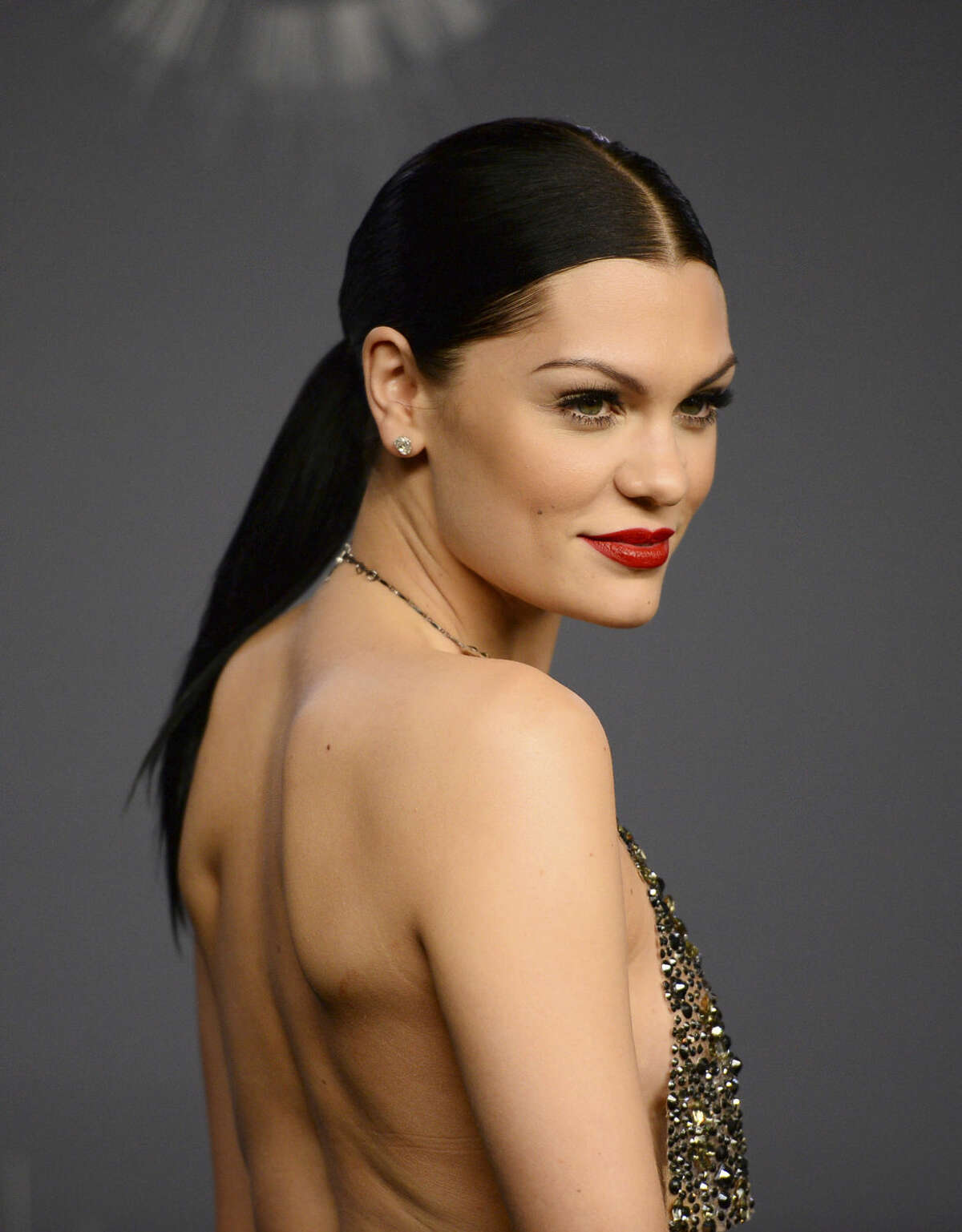 Jessie J poses in the press room at the MTV Video Music Awards at The Forum on Sunday, Aug. 24, 2014, in Inglewood, Calif. (Photo by Jordan Strauss/Invision/AP)