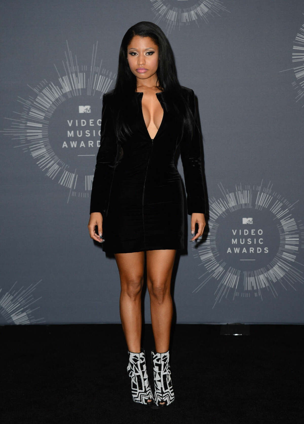 Nicki Minaj poses in the press room at the MTV Video Music Awards at The Forum on Sunday, Aug. 24, 2014, in Inglewood, Calif. (Photo by Jordan Strauss/Invision/AP)