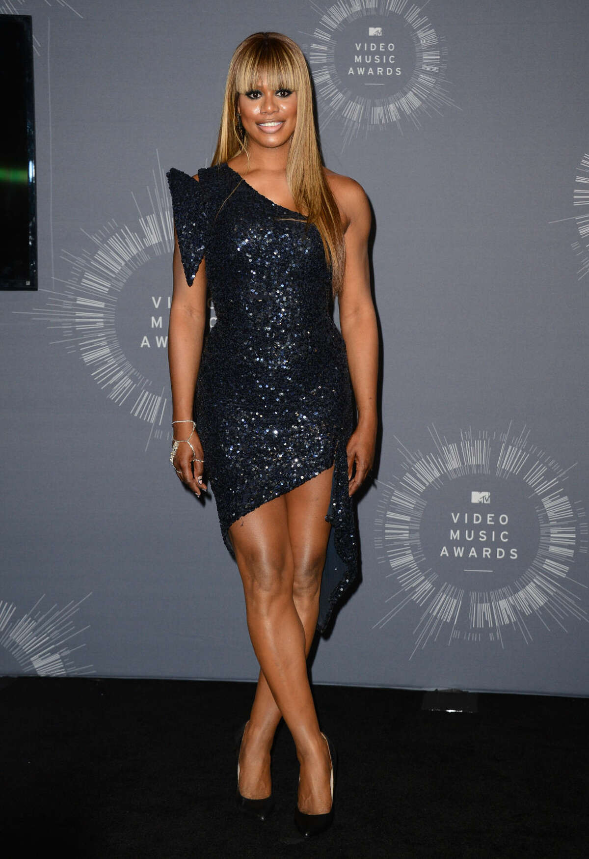 Laverne Cox poses in the press room at the MTV Video Music Awards at The Forum on Sunday, Aug. 24, 2014, in Inglewood, Calif. (Photo by Jordan Strauss/Invision/AP)