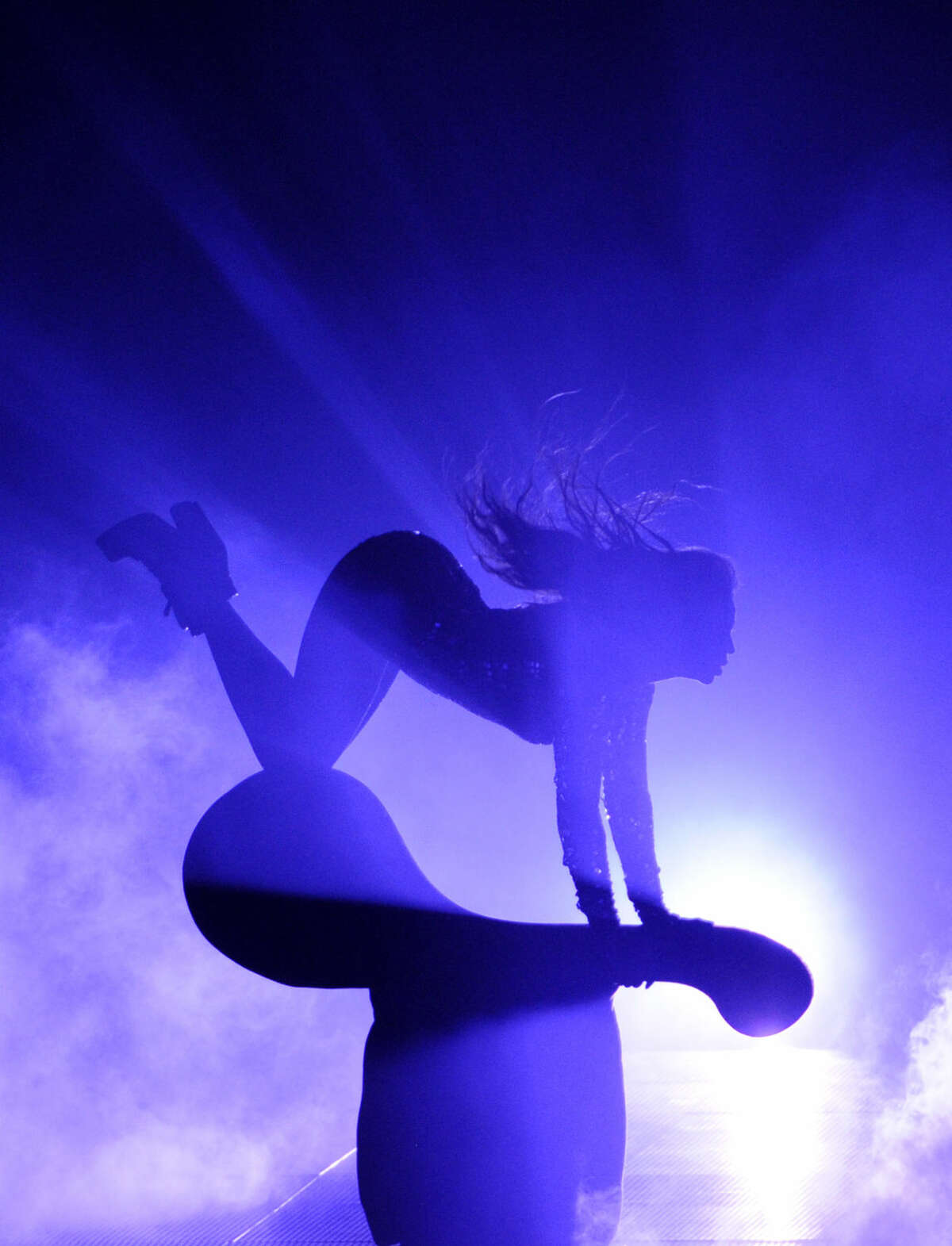 Beyonce performs onstage at the MTV Video Music Awards at The Forum on Sunday, Aug. 24, 2014, in Inglewood, Calif. (Photo by Chris Pizzello/Invision/AP)