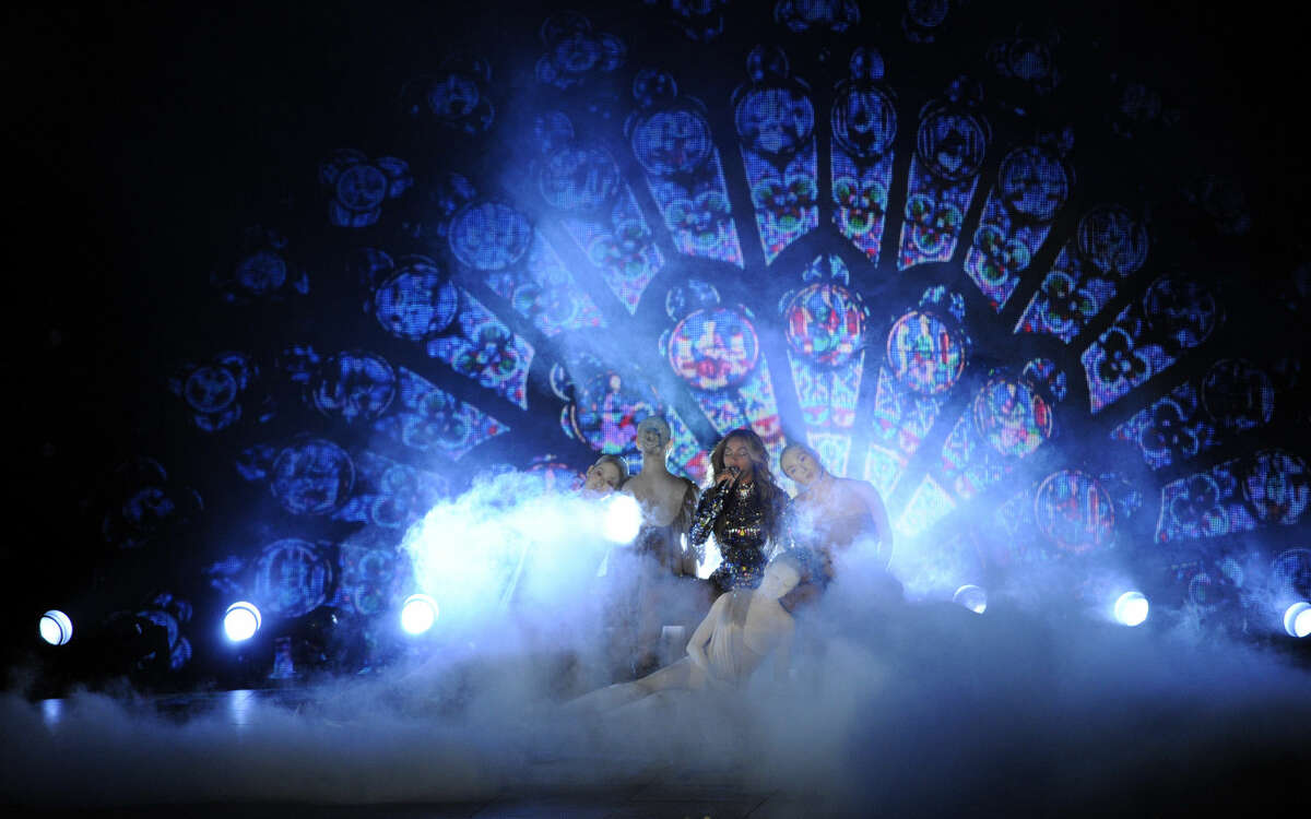 Beyonce performs at the MTV Video Music Awards at The Forum on Sunday, Aug. 24, 2014, in Inglewood, Calif. (Photo by Chris Pizzello/Invision/AP)