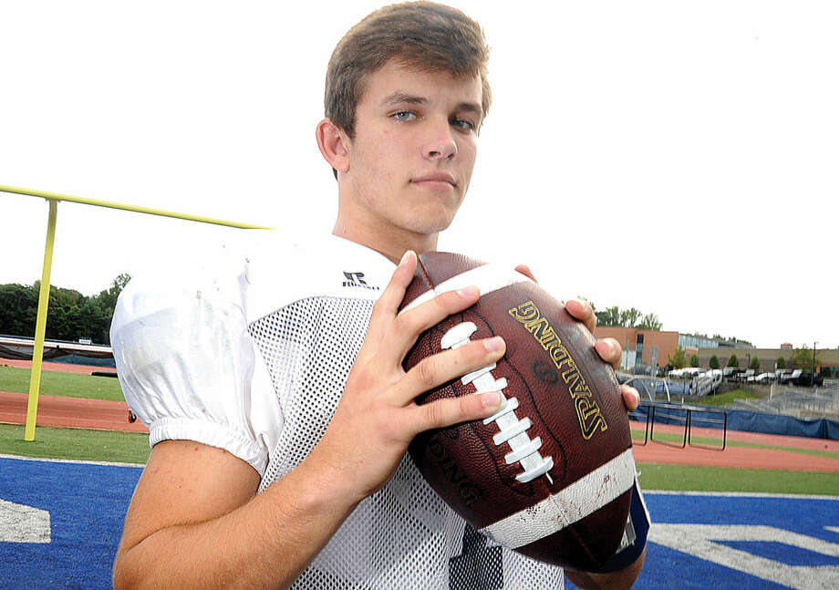 Staples' quarterback Andrew Speed has thrown for 247 yards, rushed for 191 yards and has five total touchdowns through the first two games this season. (Hour photo/Matthew Vinci)