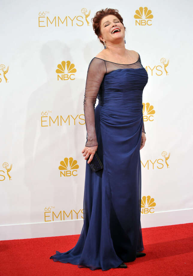 Kate Mulgrew arrives at the 66th Annual Primetime Emmy Awards at the Nokia Theatre L.A. Live on Monday, Aug. 25, 2014, in Los Angeles. (Photo by Richard Shotwell/Invision/AP)