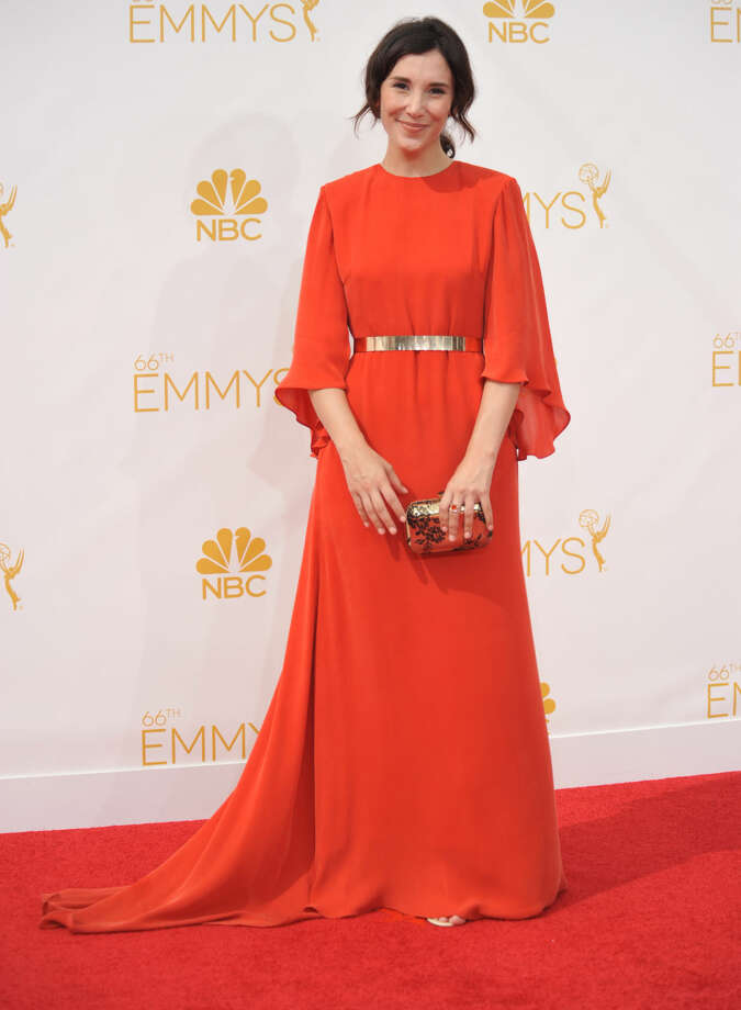Sibel Kekilli arrives at the 66th Annual Primetime Emmy Awards at the Nokia Theatre L.A. Live on Monday, Aug. 25, 2014, in Los Angeles. (Photo by Richard Shotwell/Invision/AP)