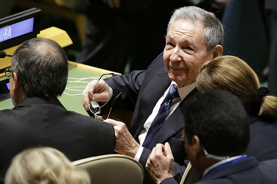 Cuban President Raul Castro attends the 70th session of the United Nations General Assembly at U.N. headquarters, Monday, Sept. 28, 2015. (AP Photo/Mary Altaffer)