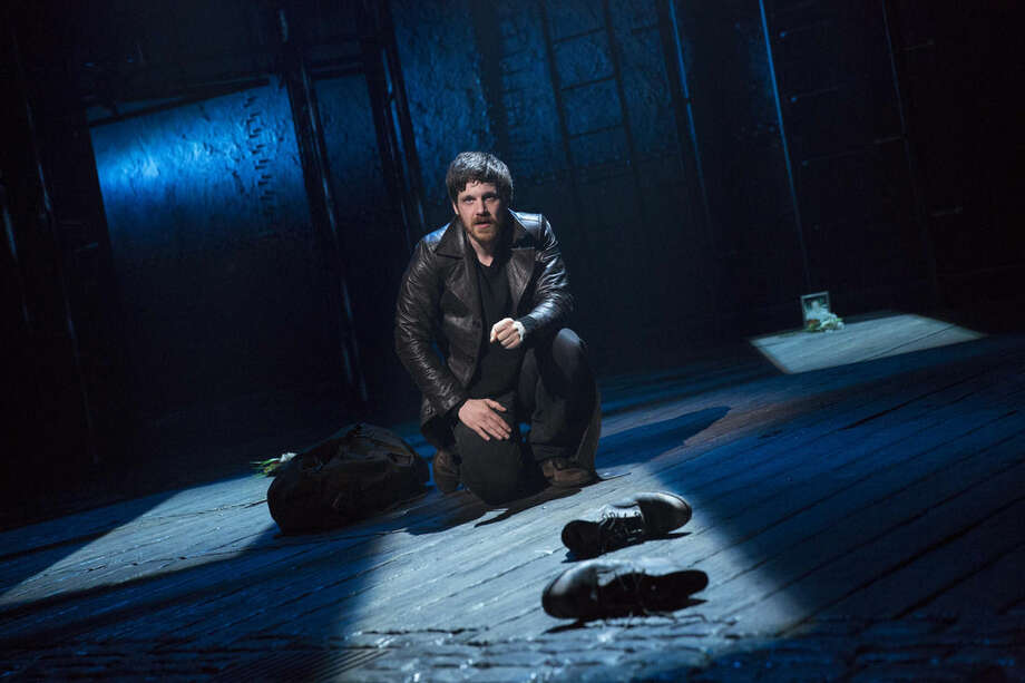 """This photo provided by Sam Rudy Media Relations shows Michael Esper in a scene from the play, """"The Last Ship,"""" in Chicago. Sting, a 16-time Grammy Award winner and former lead singer of The Police, has written the music for """"The Last Ship,"""" with a story by both """"Red"""" playwright John Logan and """"Next to Normal"""" writer Brian Yorkey. The musical is inspired by Sting's memories of growing up in a shipbuilding community in northeast England. (AP Photo/Sam Rudy Media Relations, Joan Marcus)"""