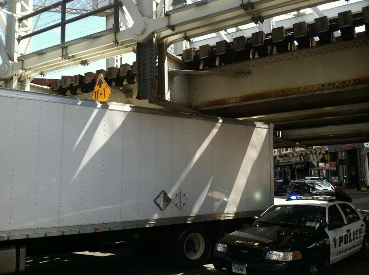 Bridge struck in Norwalk on Washington Street on Thursday afternoon.