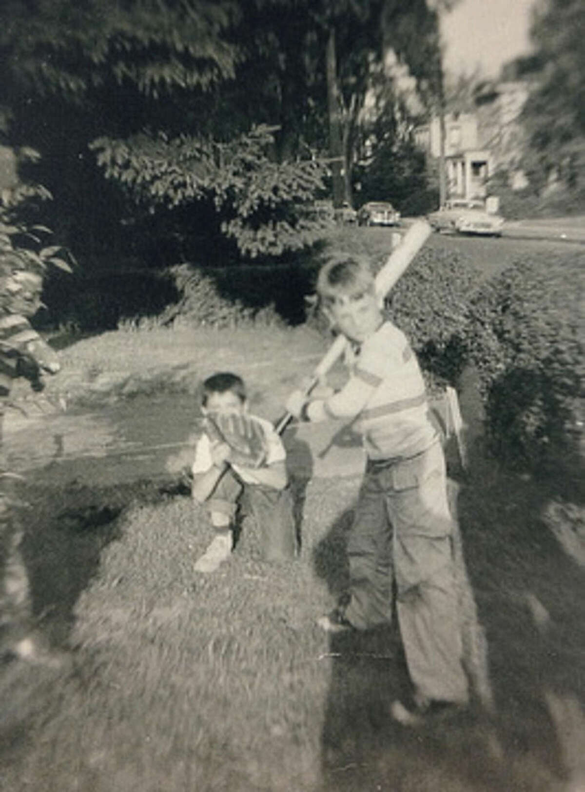 Contributed photo A young Harry Rilling plays baseball in Norwalk.