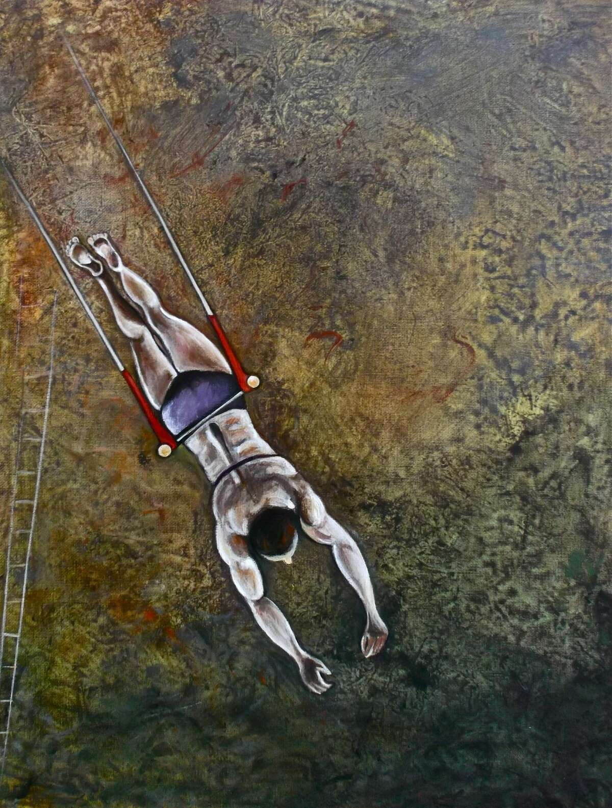 """""""Hovering"""" by artist Karen E Gersch is one of the more than 80 pieces on exhibit in Wilton Library's """"Aerial Grace & Altered Views: Karen E. Gersch and Pam Rouleau Art Exhibition,"""" opening Friday, Sept. 5, from 6-7:30 p.m."""