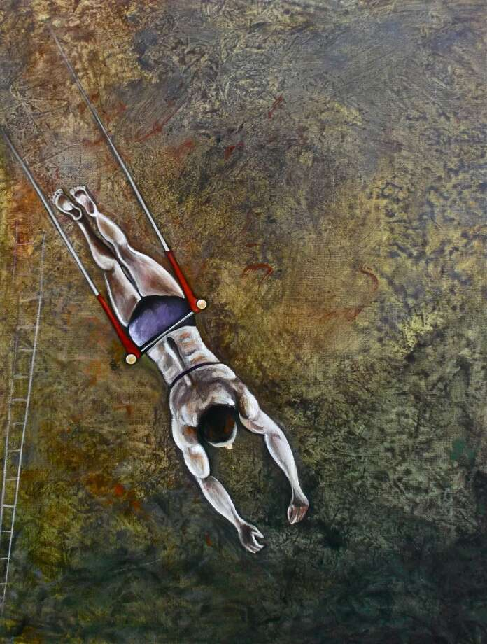"""Hovering"" by artist Karen E Gersch is one of the more than 80 pieces on exhibit in Wilton Library's ""Aerial Grace & Altered Views: Karen E. Gersch and Pam Rouleau Art Exhibition,"" opening Friday, Sept. 5, from 6-7:30 p.m."
